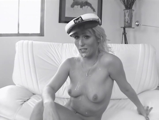 After the fun is over, Sharon reminds us the fun of being a Navy Girl...while dripping with cum