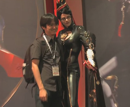Mind if I squeeze my tight rubber Bayonetta figure, up against you for this shoot...er no