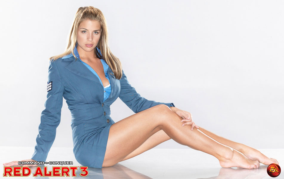 Gemma Atkinson as Eva. She can boss us about anytime :o)