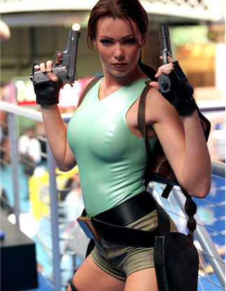 To our knowlege, Nell Mcandrew was the only Lara to pose in latex...thanks Nell!