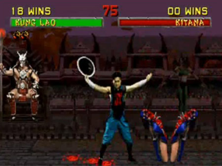 Kung Lao's fatality, was one of the most grusome in the original games - Copyright Midway