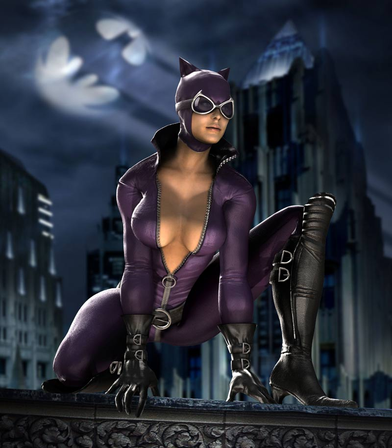 The recent Mortal Kombat VS DC Universe game, introduced the likes of Catwoman.