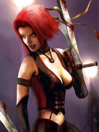 The sexy BloodRayne herself - Wouldn't want to piss her off though