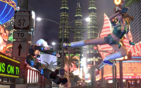 Dead or Alive also introduced interactive locations, but Team Ninja were also focusing on something else, to go with their gorgeous visuals... - Copyright Tecmo