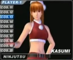 Dead or Alive's Kasumi in a sexy mrs santa costume. Well it's November isn't it. - Copyright Tecmo