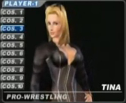 Dead or Alive's Tina in a sexy Catsuit - Copyright Tecmo