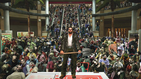 Dead Rising squeezed up to 500 zombies on screen at once. Dead Rising 2 is said to have up to 7,000 zombies, all after your flesh at once!