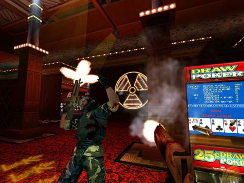 Duke Nukem Forever seemed to welcome the idea of casino's. It bleded well with the games adult theme - Copyright 3D Realms