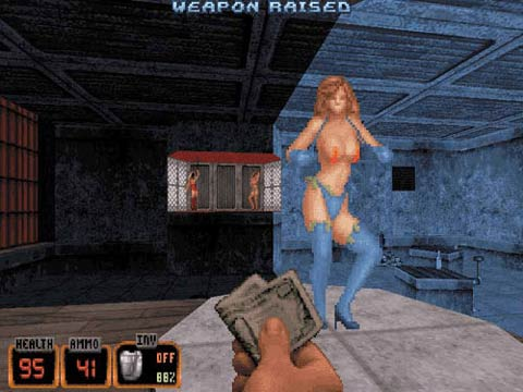 The sexy strippers that helped make Duke Nukem. Wanna Dance? - Copyright 3D Realms