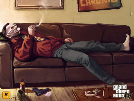 The characters in GTA4 such as Little Jacob, really make the story addictive and Liberty City spring to life - Copyright Rockstar